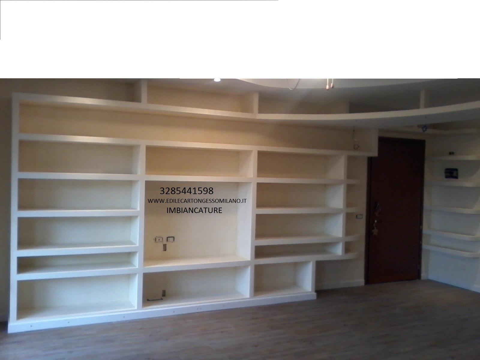 Excellent melegnano u cartongesso u with costo libreria cartongesso - Parete in cartongesso costo ...